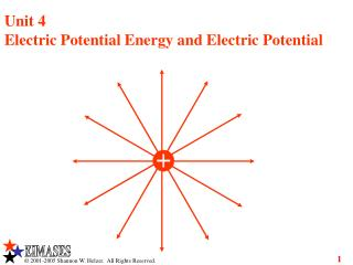 Unit 4 Electric Potential Energy and Electric Potential