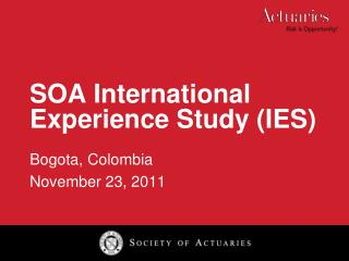 SOA International Experience Study (IES)