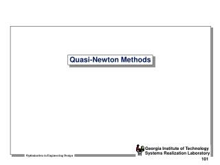 Quasi-Newton Methods