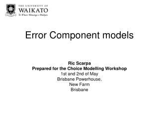 Error Component models