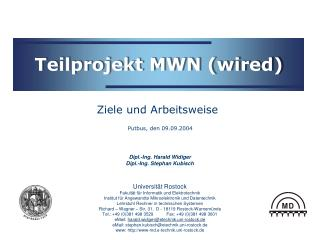 Teilprojekt MWN (wired)