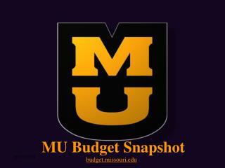 MU Budget Snapshot