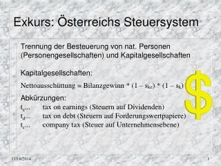 Exkurs: Österreichs Steuersystem