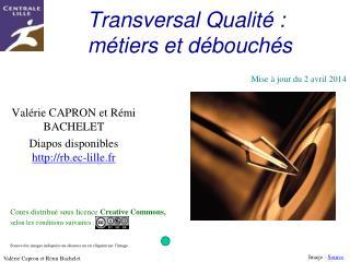Transversal Qualit  : m tiers et d bouch s