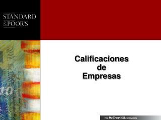 Calificaciones  de  Empresas