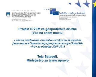 Osnovni namen projekta