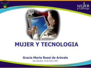 MUJER Y TECNOLOGIA