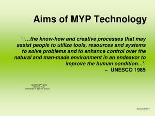 Aims of MYP Technology