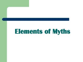 Elements of Myths