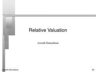 Relative Valuation