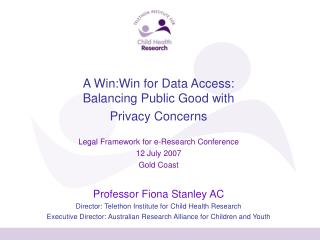 A Win:Win for Data Access: Balancing Public Good with  Privacy Concerns