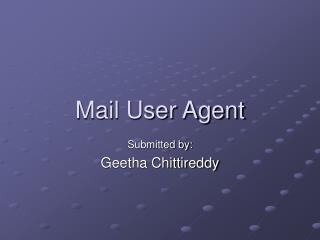 Mail User Agent