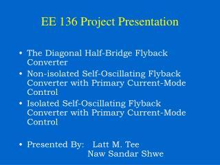 EE 136 Project Presentation
