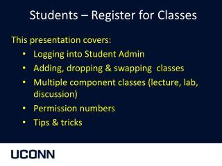 Students � Register for Classes