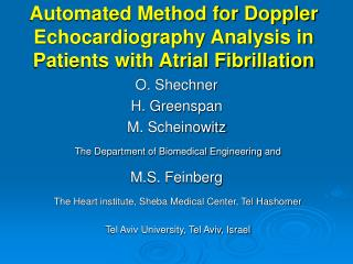 Automated Method for Doppler Echocardiography Analysis in Patients with Atrial Fibrillation