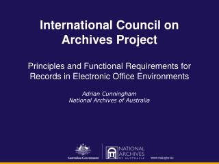 International Council on Archives Project