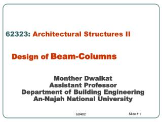 62323:  Architectural Structures II