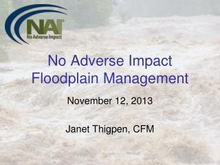 No Adverse Impact Floodplain Management