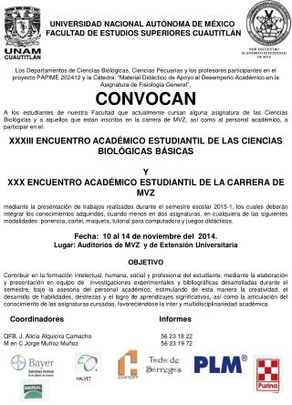 X XIII  ENCUENTRO  ACAD�MICO ESTUDIANTIL DE MVZ
