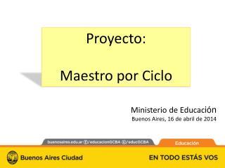 Proyecto: Maestro por Ciclo