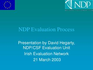 NDP Evaluation Process
