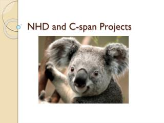 NHD and C-span Projects