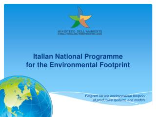 Italian National Programme  for the Environmental Footprint