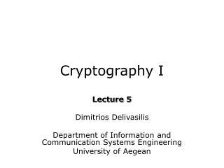 Cryptography I