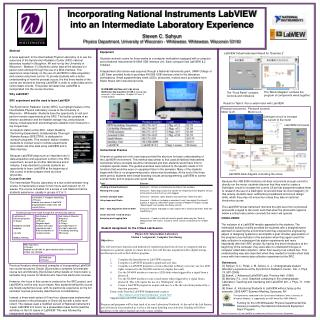 Incorporating National Instruments LabVIEW into an Intermediate Laboratory Experience