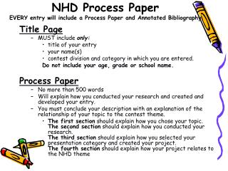 NHD Process Paper EVERY entry will include a Process Paper and Annotated Bibliography