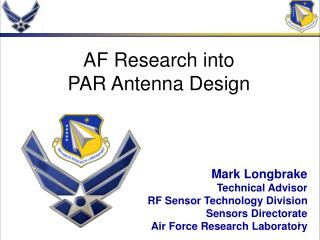 AF Research into PAR Antenna Design