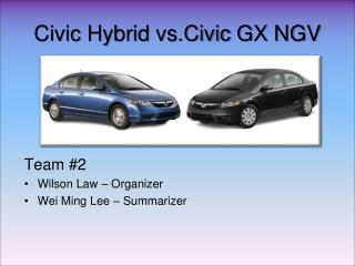 Civic Hybrid  vs.Civic  GX NGV
