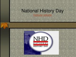 National History Day National website