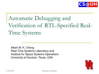 Automatic Debugging and Verification of RTL-Specified Real-Time Systems