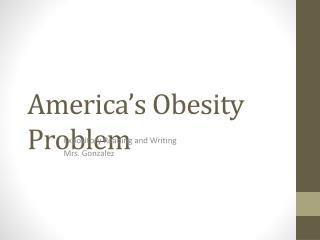 America s Obesity Problem