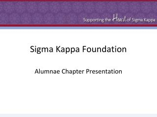 Sigma Kappa Foundation