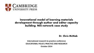 Dr. Chris  McNab International research-to-practice conference