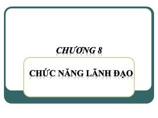 CH ƯƠ NG  8