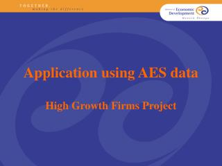 Application using AES data High Growth Firms Project