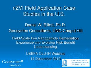 nZVI Field Application Case Studies in the U.S.