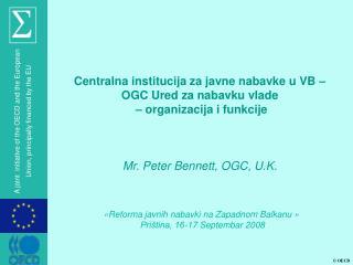 Centralna institucija za javne nabavke u VB – OGC Ured za nabavku vlade