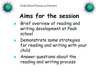 Aims for the session