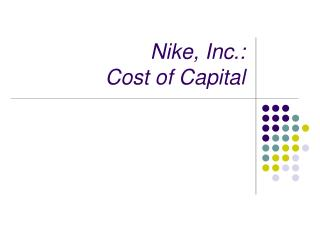 Nike, Inc.: Cost of Capital