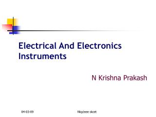 Electrical And Electronics Instruments