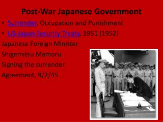 Post-War Japanese Government