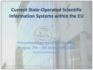 Current State-Operated Scientific Information Systems within the EU