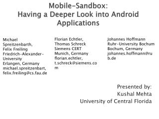 Mobile-Sandbox: Having a Deeper Look into Android Applications