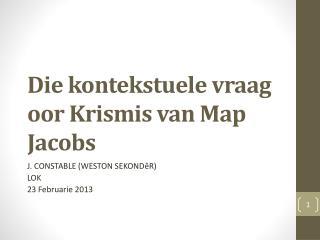 Die  kontekstuele vraag oor Krismis  van Map Jacobs