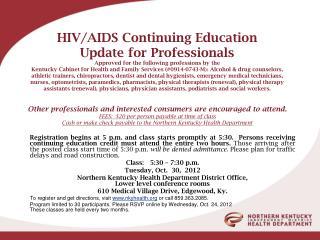 HIV CEU flyer 10.30.12