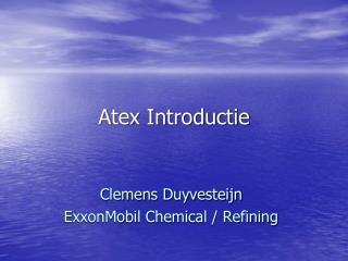 Atex Introductie